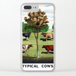 Typical Cows Clear iPhone Case