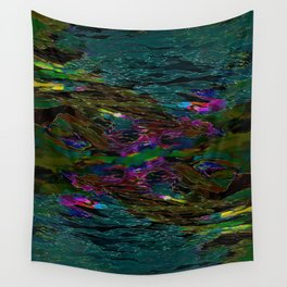 Evening Pond Rhapsody Wall Tapestry