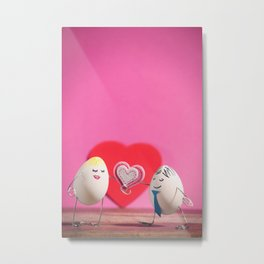 Have an Egg-cellent Valentne's Day! Metal Print