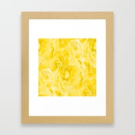 Yellow Peony Petals in Close-up #decor #society6 #buyart Framed Art Print