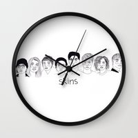 cactei Wall Clocks featuring Skins Gen 1 by ☿ cactei ☿
