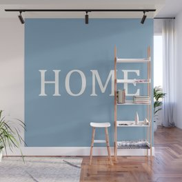 Home word on placid blue background Wall Mural