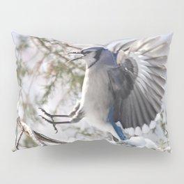 """Get Off My Branch!"" Blue Jay Pillow Sham"