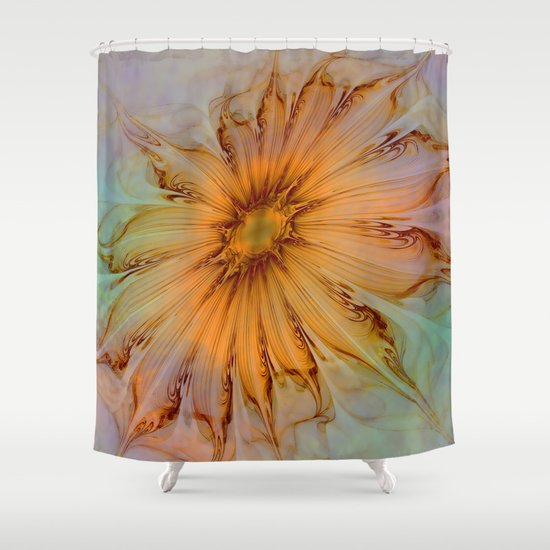 Splendid Fractal Flower 2 Shower Curtain