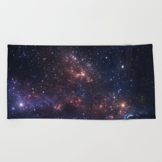 Stars and Nebula Beach Towel
