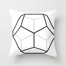 D12, White Throw Pillow