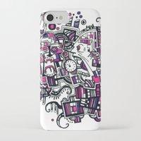 clockwork iPhone & iPod Cases featuring Clockwork by Voodoodle