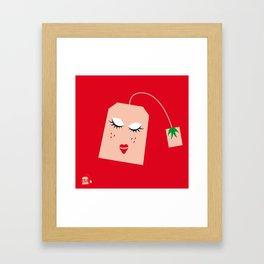 Strawberry Tea Framed Art Print