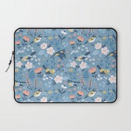 Birds & Blooms (Blue) Laptop Sleeve