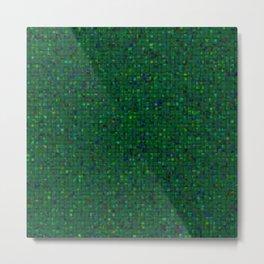Antique Texture Emerald Green Metal Print