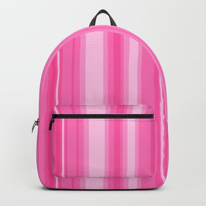 Pink Candy Stripe Backpack