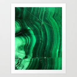 Malachite Texture Art Print