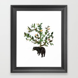 The wind is in the trees, the trees have its brances, the branches have its leaves Framed Art Print