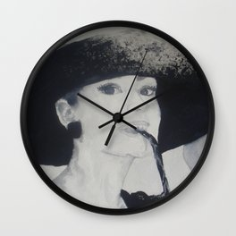 Miss Holly Golightly Wall Clock