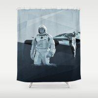 interstellar Shower Curtains featuring Interstellar by ANDRESZEN