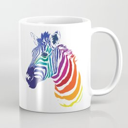 Rainbow Zebra Colorful Animal Coffee Mug