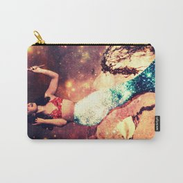 Vintage Mermaid Sparkle Carry-All Pouch