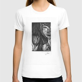 Girl with Tulip T-shirt