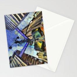 New York Street Sign Van Gogh Stationery Cards
