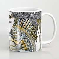 valar morghulis Mugs featuring Lady of light by Anca Chelaru