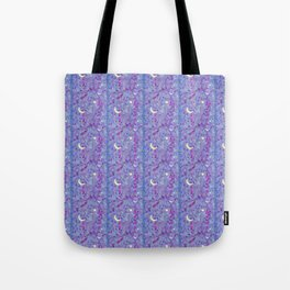 Crescent Moon and Hot Pink Stars Tote Bag
