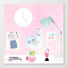 Pink Deskspace Canvas Print