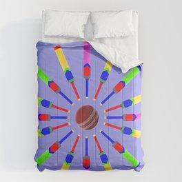 Sport Of Cricket Design version 2 Comforters