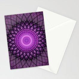 Purple and pink mandala Stationery Cards