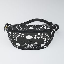 floral gothic Fanny Pack