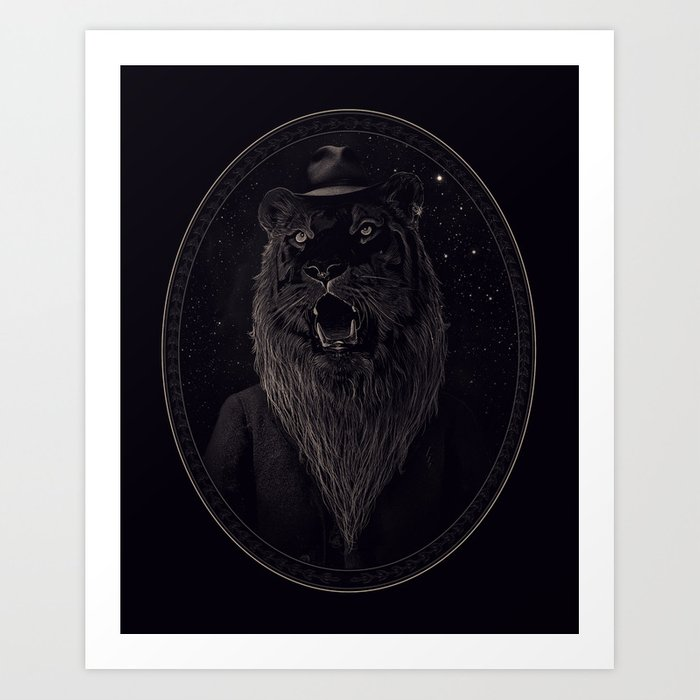 Call of the Wild Night Art Print