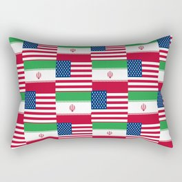 Mix of flag : Usa and Iran. Rectangular Pillow