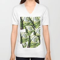 building V-neck T-shirts featuring Building by phimola