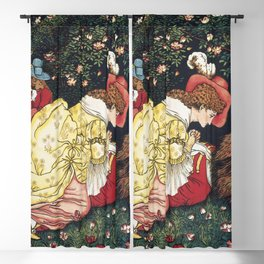 Beauty and the Beast ca 1901 by Walter Crane Blackout Curtain