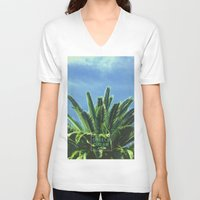 "palm tree V-neck T-shirts featuring Palm TreE  by ""CVogiatzi."
