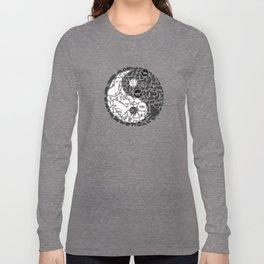 Yin-Yang Cats - Gold Long Sleeve T-shirt