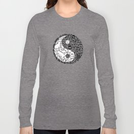 Yin-Yang Cats - Gold Long Sleeve T-shirt