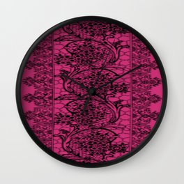 Vintage Lace Pink Yarrow Wall Clock