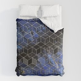 night sky cubed Comforters