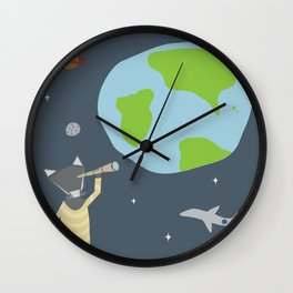 Little Wolf, Big World Wall Clock