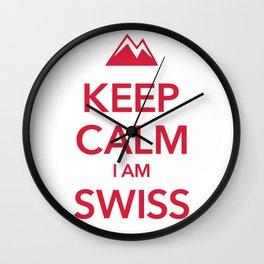 KEEP CALM I AM SWISS Wall Clock