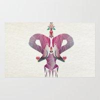 flamingo Area & Throw Rugs featuring flamingo by Manoou