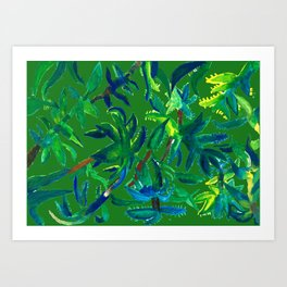 Cactus Abstract With Background Art Print