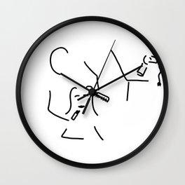visagist makeup artist hairdresser Wall Clock