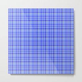 Tartan Blue Metal Print