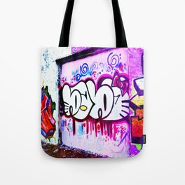 Kitty Kitty Graffiti West Philly Tote Bag
