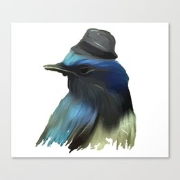 B/ue Robin Canvas Print