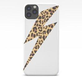 Wild Thing Leopard Lightning Bolt iPhone Case