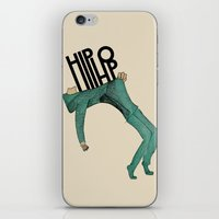 hip hop iPhone & iPod Skins featuring Hip-Hop by Mariana Baldaia
