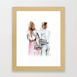 Street style girls Framed Art Print