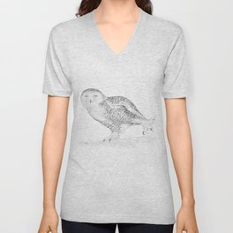 The Snowy Owl  Unisex V-Neck